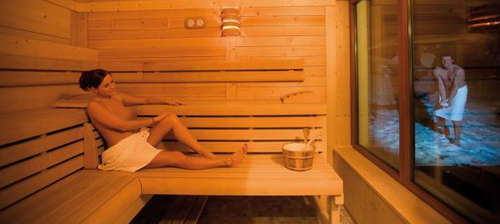 Sauna makes you sweat, which helps get rid of excess fluids and toxins from the body image picture photo